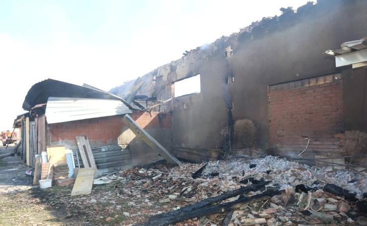 Las imágenes del Albergue Canal de Castilla de Frómista tras el incendio