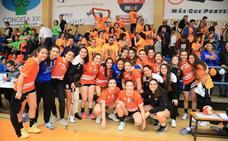 Las cadetes del BM Salamanca, a un punto de proclamarse campeonas de Castilla y León