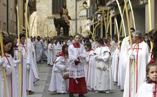 Programa de procesiones del Domingo de Ramos, 14 de abril, en Palencia