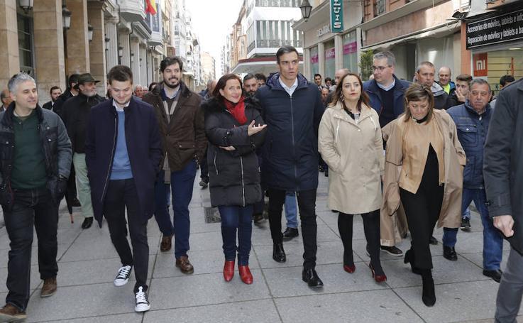 Pedro Sánchez hace campaña en Palencia