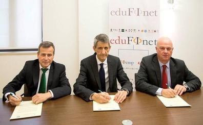 La Fundación Caja Duero albergará la sede del Proyecto Edufinet en la región