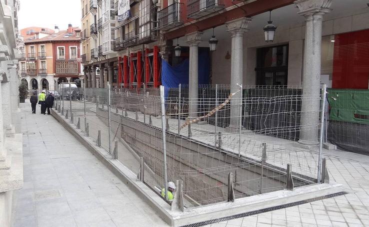 Trabajos de urbanización de la Plaza Mayor y de las calles Jesús y Manzana