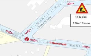 La calle Cánovas del Castillo de Valladolid, cortada hoy al tráfico de 9:30 a 12:00 horas