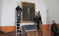 Traslado de la copia del Cristo de Velázquez en La Granja