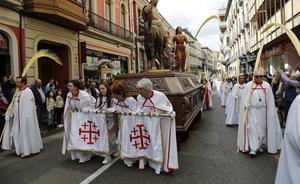 Palmas y sol para recibir a la 'Borriquilla' en Palencia