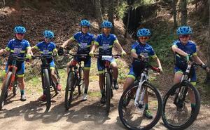 Gran actuación de la Escuela de Ciclismo Salmantina en Béjar con un doble podio