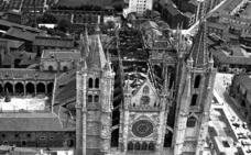 El incendio de la Catedral de León en 1966