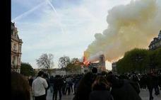 Así vivió el incendio de Notre Dame una familia vallisoletana