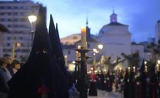 Procesión del Encuentro en la calle de las Angustias de Valladolid