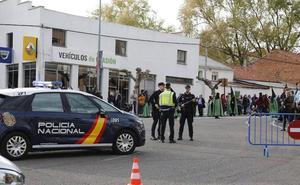 La alerta antiterrorista marca la seguridad de la Semana Santa de Palencia