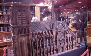 La reconstrucción de Notre Dame... en chocolate
