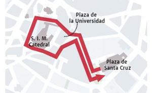 Recorrido de las procesiones del Jueves Santo en Valladolid