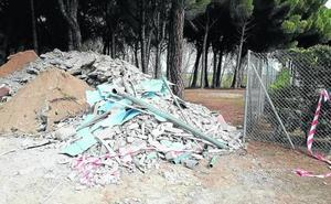 Sin contenedor en Tudela para los escombros municipales