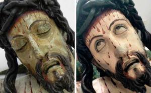 Y el Cristo crucificado de Olmedo abrió los ojos