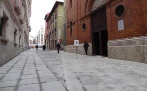 El triángulo de la discordia de los adoquines de la calle Jesús de Valladolid