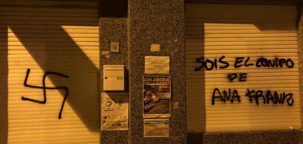 La sede de Unionistas CF de Salamanca de nuevo atacada, ahora con un esvástica y alusiones a Ana Frank