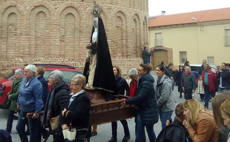 Procesión de la Pasión el Jueves Santo en Alcazarén