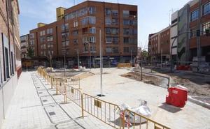 La plaza de Luis Braille de Valladolid luce su nuevo espacio peatonal a falta de los remates y el asfaltado