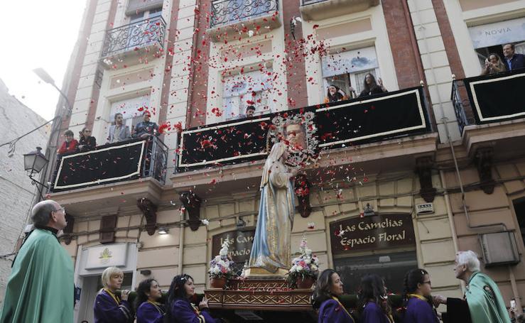 El Rompimiento del Velo despide la Semana Santa de Palencia