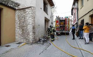 Incendio en un merendero en Peñafiel