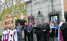 San Millán rinde homenaje al escultor Aniceto Marinas