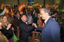 Javier Ortega Smith en el mitin de Vox en Segovia