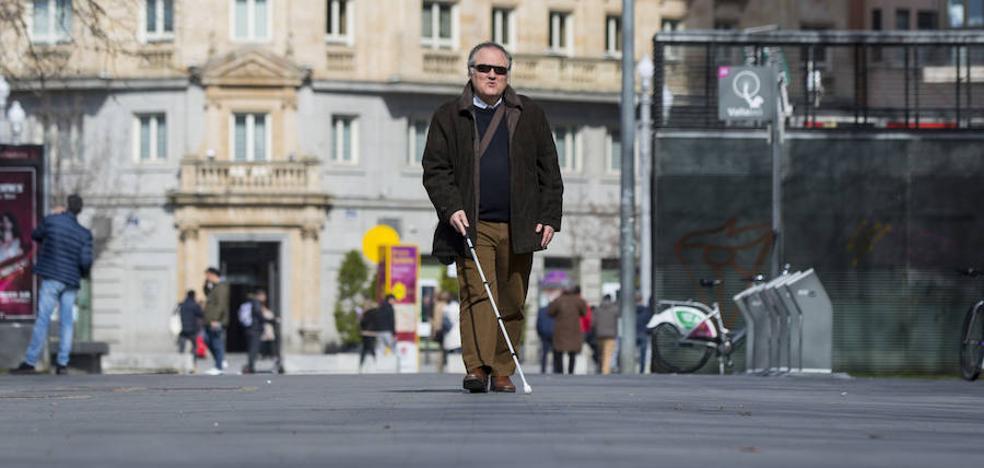 La Acera de Recoletos, una trampa para ciegos en Valladolid