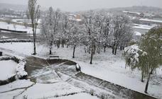 La nieve llega al norte de Palencia