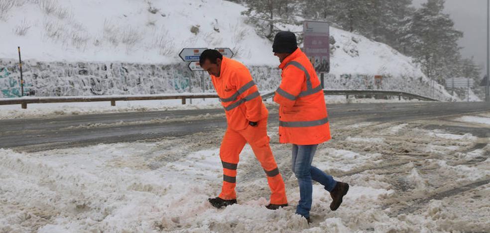 La nieve vuelve a la provincia a las puertas de mayo
