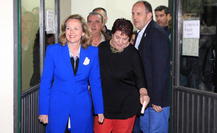 La ministra de Economía, Nadia Calviño, en el acto central del PSOE en Segovia