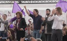 Mitin de Pablo Iglesias en la Cúpula del Milenio en Valladolid