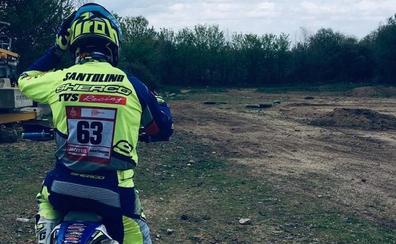 Santolino vuelve a montar en moto más de 100 días después de su caída y mira ya al Dakar 2020