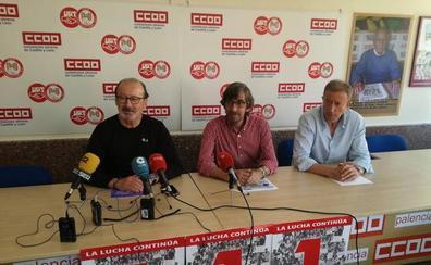 UGT y CC OO llaman a los trabajadores de Palencia a movilizarse en el Primero de Mayo