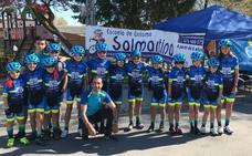 Excelente debut en carretera de la Escuela de Ciclismo Salmantina con cinco puestos de privilegio en Cuéllar