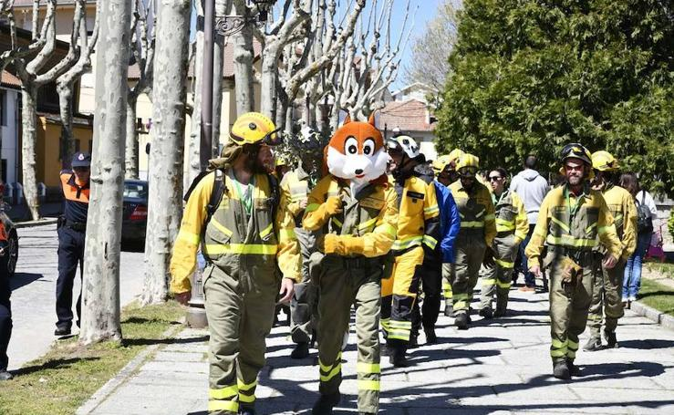 Encuentro nacional de bomberos forestales en El Espinar