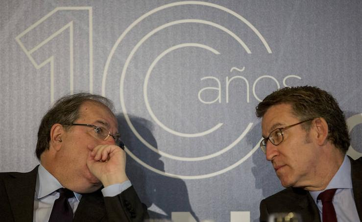 Juan Vicente Herrera y Alberto Núñez Feijoo en el Foro Económico de El Norte de Castilla