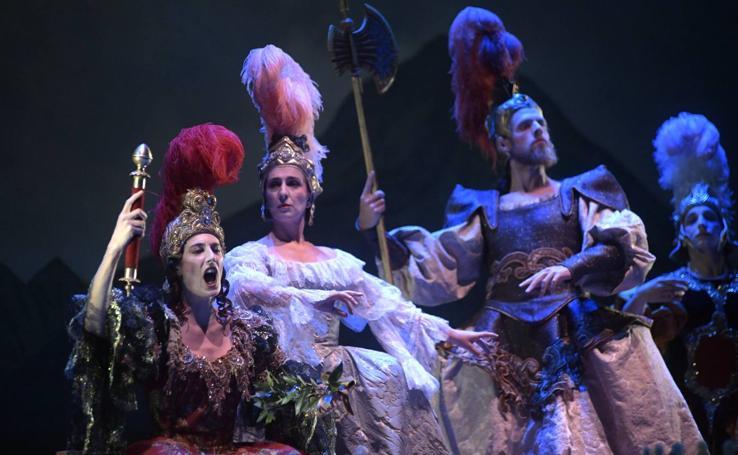 Ensayo general de la ópera La Partenope en el Teatro Calderón de Valladolid