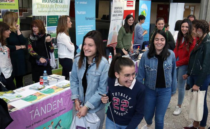 Feria Tándem de empleo en el cámpus de la UVA en Segovia
