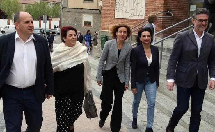 La ministra Meritxell Batet arropa los candidatos socialistas de Segovia