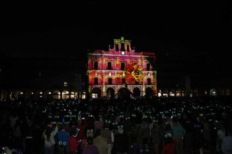 Certamen Luz y Vanguardias de 2018 en la Plaza Mayor.