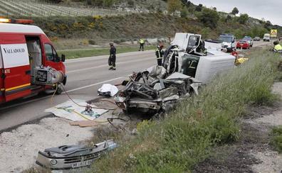 La mujer fallecida en el accidente de la N-122 es una vecina de la localidad vallisoletana de Tudela de 56 años
