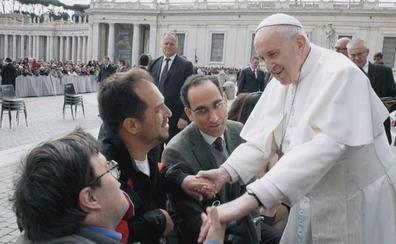El Langui: «Impacta estar con el Papa»
