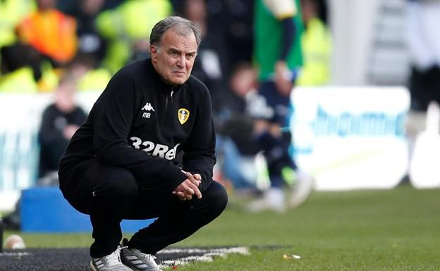 Marcelo Bielsa, durante el Derby County-Leeds United./Reuters