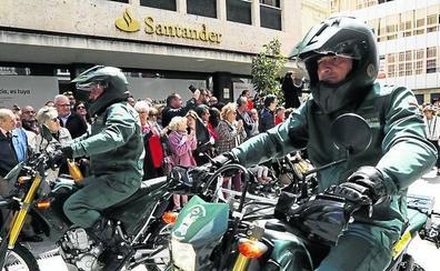 Los primeros de Ahumada en la calle Joaquín Costa de Palencia