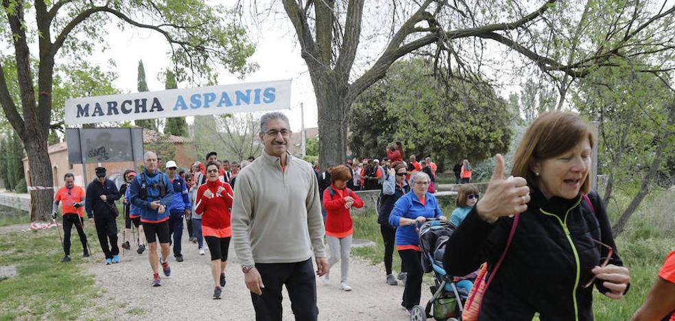 Palencia responde al objetivo de Aspanis en una marcha que cumple 40 años
