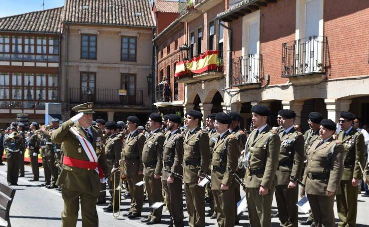 Herrera de Pisuerga vive con emoción una jura de bandera