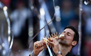 Djokovic suma su tercera corona en Madrid e iguala con Nadal en Masters 1.000