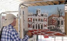 Exposición de pintura rápida en la Plaza España de Valladolid