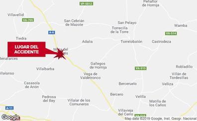 Tres septuagenarios heridos al salirse una furgoneta en la A-6 en Valladolid