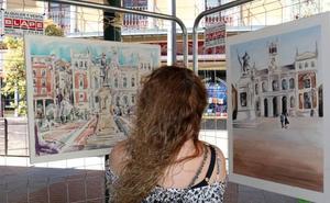 El vallisoletano Óscar Herrán vuelve a ganar el concurso de pintura rápida San Pedro Regalado